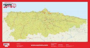 mapa mural de Asturias Casintra