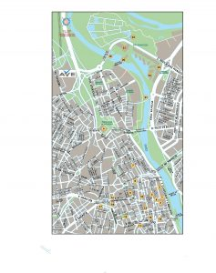 Zaragoza mapa vectorial illustrator eps Ave