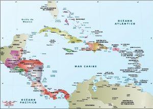 Caribe mapa vectorial illustrator eps