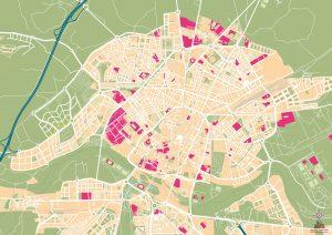 Mapa vectorial illustrator eps Salamanca