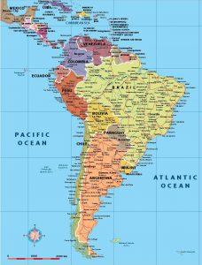 Sudamerica mapa vectorial illustrator eps
