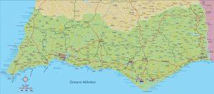 Mapa vectorial Algarve illustrator eps editable