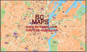 Belfast mapa vectorial illustrator eps
