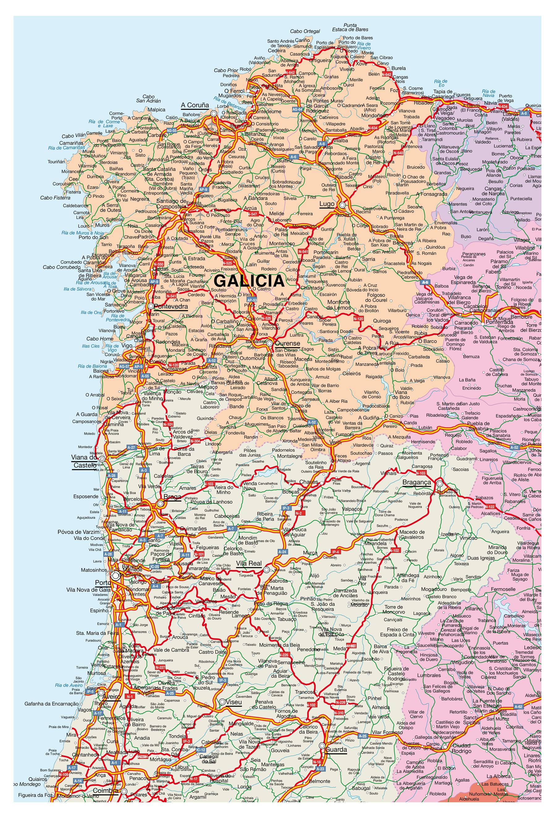 Mapa Vectorial Portugal Illustrator Eps Editable Sag