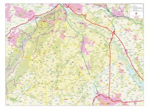 Haute Savoie vector map illustrator eps
