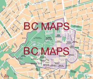 Ciudad Vaticano mapa vectorial illustrator eps