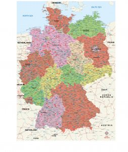 Alemania mapa vectorial illustrator eps