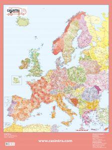 Mapa mural Europa códigos postales CASINTRA