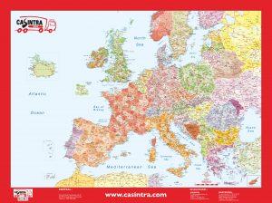 Mapa Europa Codigos postales sobremesa CASINTRA