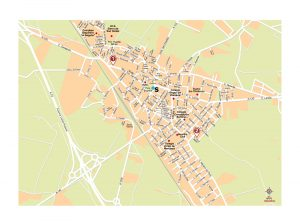 Binefar mapa vectorial illustrator eps