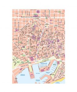 Centro Bcn mapa vectorial illustrator eps