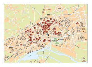 Talavera de la Reina mapa vectorial illustrator eps
