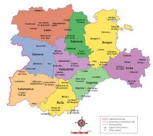 Mapa Castilla Leon politico illustrator eps By Me
