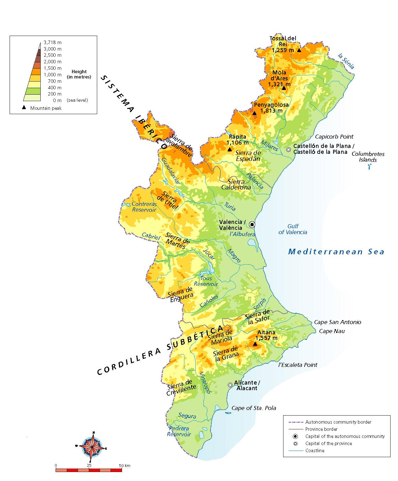 Mapa Fisico Comunitat Valenciana.Atlas De Primaria De La Editorial By Me Mapas En Ingles De Las Ccaa