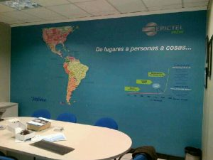 Mapa mural magnetico Erictel
