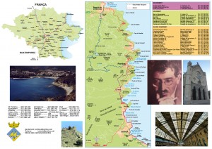 Mapa Ruta Walter Benjamin, Portbou,, Alt Empordà, Girona