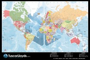 Mapamundi sobremesa Tuscor Lloyds