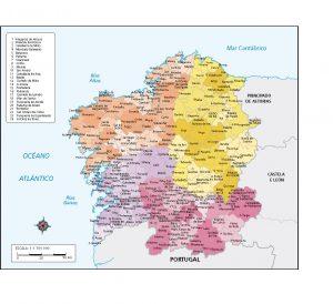 mapa vectorial Galicia Concellos