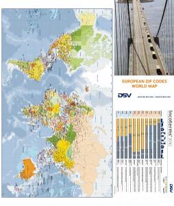 Mapa mundi DSV Belgica y DSV Holanda