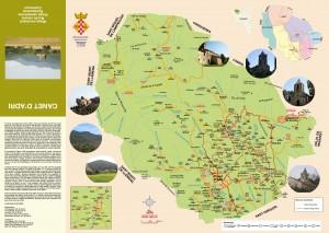 Mapa municipio de Canet d'Adri, Girones