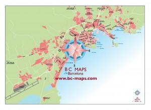 Mapa vectorial accesos a Eivissa en illustrator eps