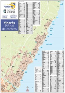 Mapa turistico B Vinaros (Castello), BC Maps 2011