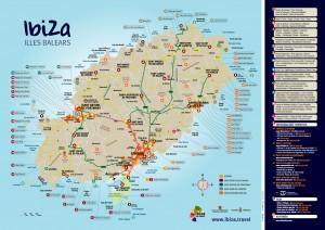Mapa Illa Eivissa, creat per Bc Maps, pel Patronat de Turisme