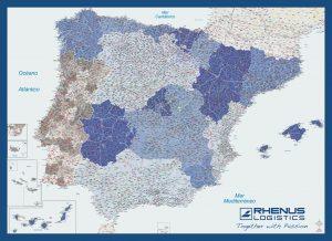 Mapa mural personalizado España Rhenus