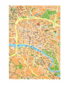 Glasgow Strath University vector map