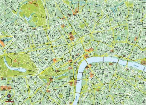Mapa vectorial Londres Eps illustrator