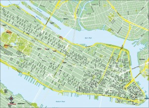 Mapa vectorial New York eps illustrator