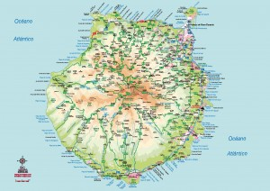 Gran Canaria mapa vectorial eps illustrator