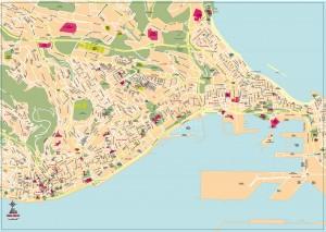 Mapa vectorial eps illustrator Las Palmas