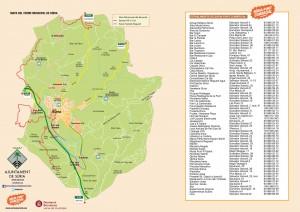 Mapa Súria termino municipal