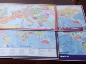 Mapas vades sobremesa bc Maps, mapamundi, Codigos postales, España