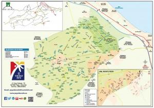 Mapa turistico municipio Pego