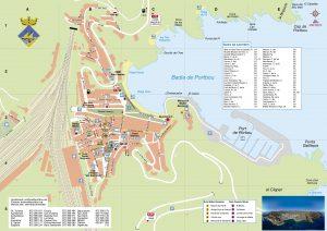 Portbou 2019 plànol de la ciutat
