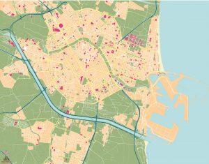 Valencia mapa vectorial illustrator eps full