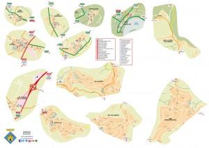 Mapa dels nuclis del municipi Castellet i la Gornal