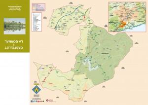Mapa del municipi Castellet i la Gornal, Parc del Foix