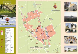 Mapa turistic de Les Cabanyes Casc, Alt Penedés, Barcelona