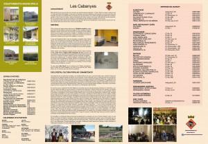 Mapa turistic i informacio de Les Cabanyes, Alt Penedés, Barcelona