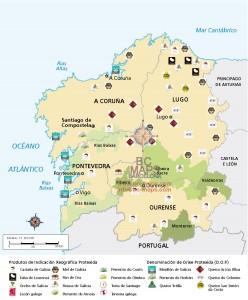 Mapa galicia DO Vectorial Tambre