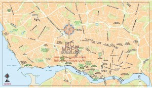 Porto mapa vectorial eps illustrator