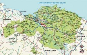 Bizkaia mapa vectorial illustrator eps