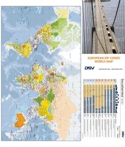 Mapa Europa codigos postales DSV Belgica