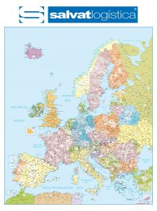 Mapa mural Europa codigos postales SALVAT