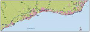 Mapa Costa del Sol Vectorial Rolex