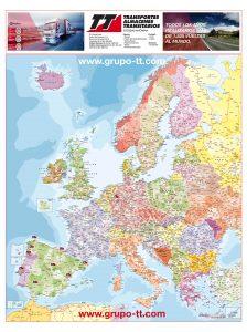 Mapa Europa codigos postales Grupo TT 2017