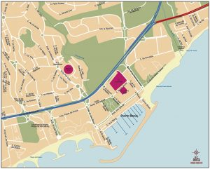 Mapa Puerto Banús vectorial Rolex